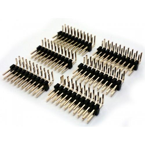 ( 6 pc ) STRIP LINE 10x2 POLI MASCHIO 90° L-6mm