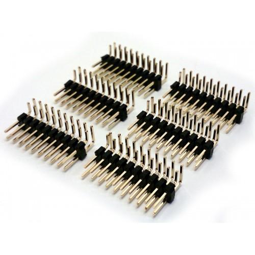 ( 6 pc ) STRIP LINE 8x2 POLI MASCHIO 90° L-6mm