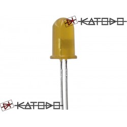 ( 10 pcs ) LED GIALLO 10mA diametro 5mm L-7113YD