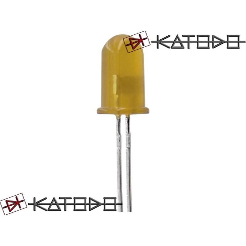 ( 10 pcs ) LED GIALLO 10mA diametro 5mm L-7113YD