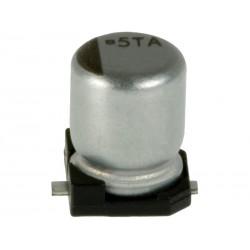 10pcs ELETTR. SMD 100uF 16V VE2 D6,3 H5,3 mm 105°C CLS11016-R