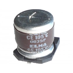 10pcs ELETTR. SMD 100uF 50V 105°C Ø 10,0mm H 10,5mm LOW-ESR