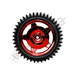 12mm Hub Off Road Wheel 85mm diameter 1:10 RC - RED