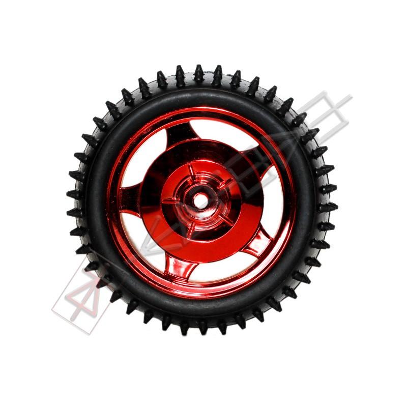 12mm Hub Off Road Wheel 85mm diameter 1:10 RC - RED