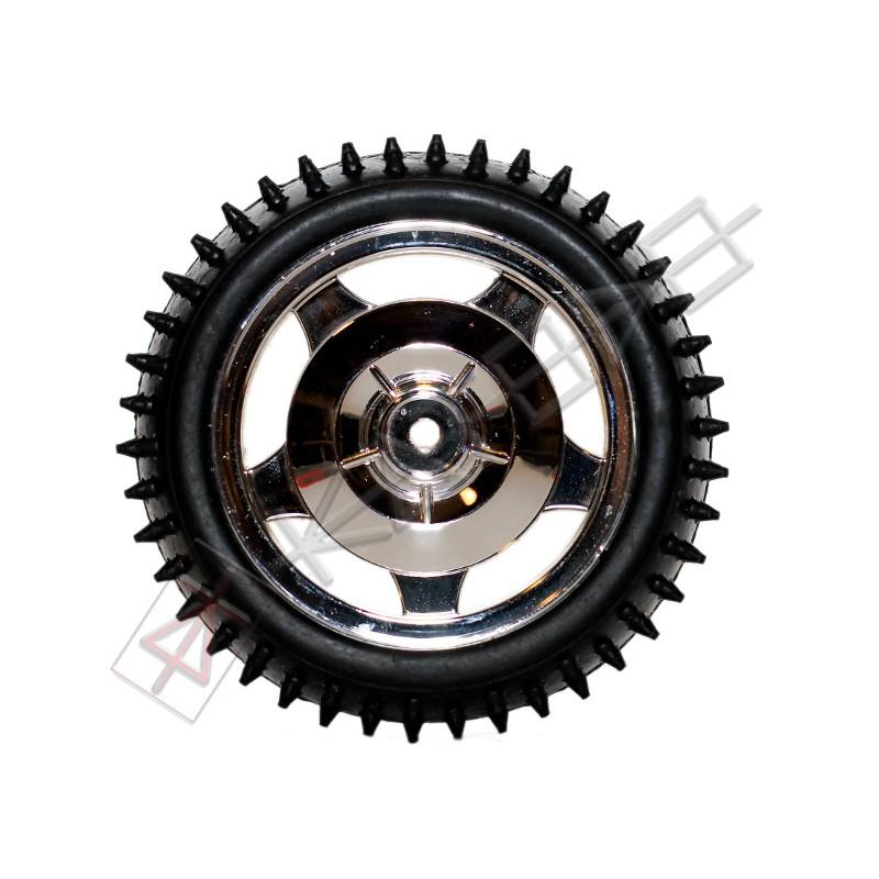 12mm Hub Off Road Wheel 85mm diameter 1:10 RC - SILVER