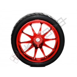12mm Hub OnRoad Wheel 65mm diameter 1:10 RC - RED