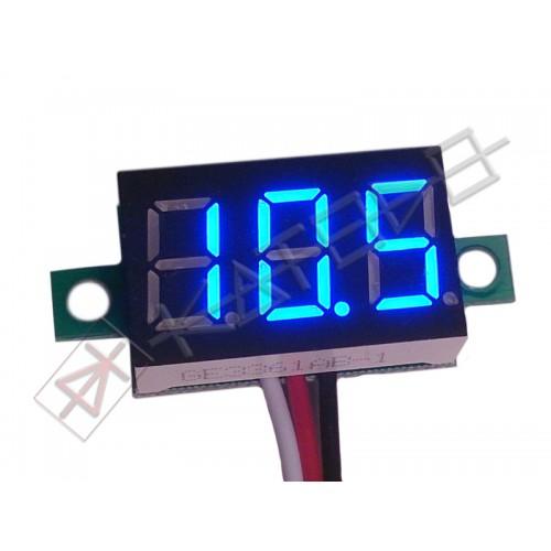 "Three-wire 0.36"" BLUE LED Voltmeter Panel Meter"