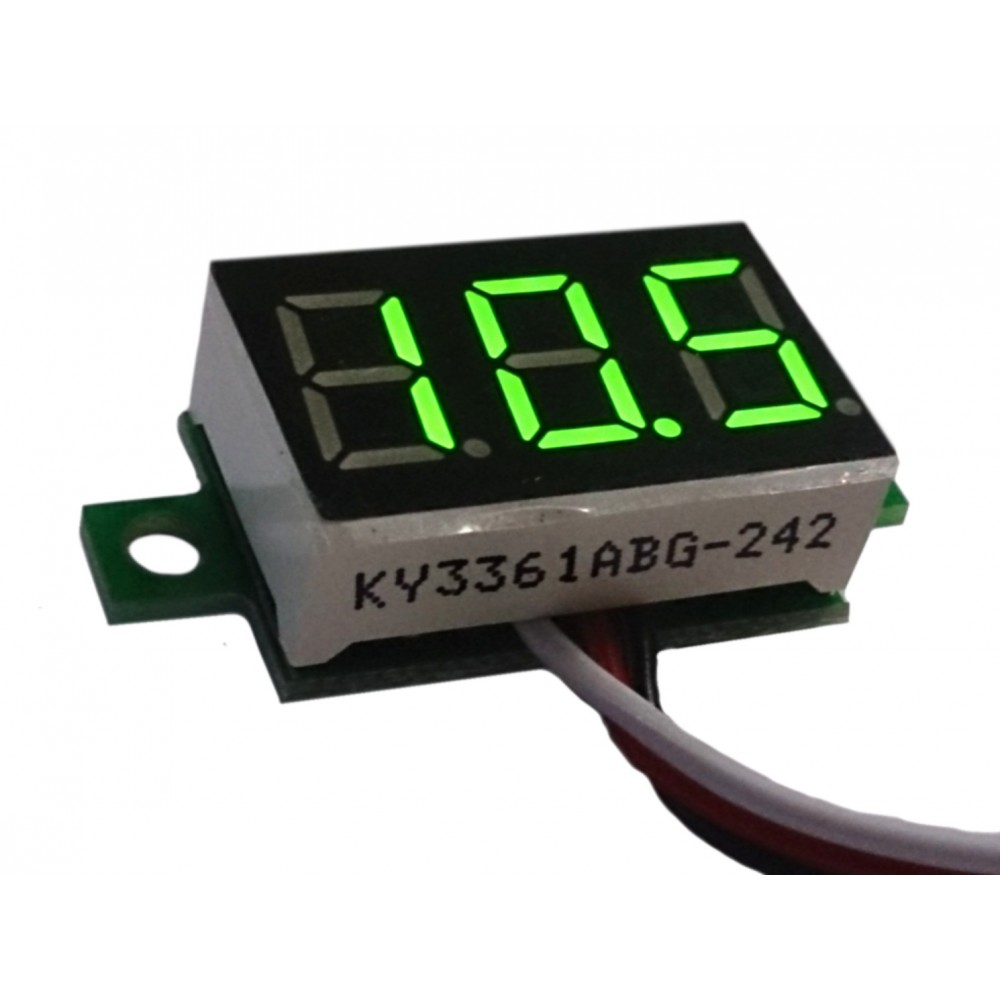 """Three-wire 0.36"""" GREEN LED Voltmeter Panel Meter"""