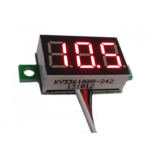 "Three-wire 0.36"" RED LED Voltmeter Panel Meter"