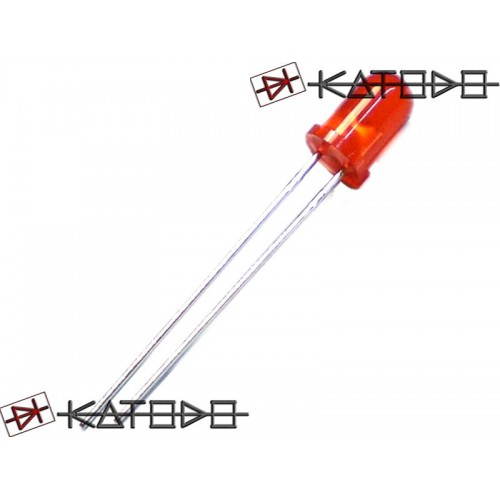 ( 10 pcs ) LED ROSSO RED 10mA 5mm diameter