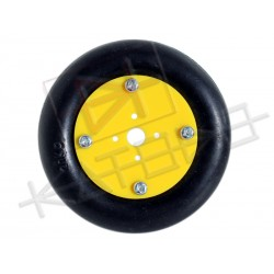 Wheel for RC modified servo. 20Kg payload, 73mm diameter, 16mm width and 15mm spacing hole for