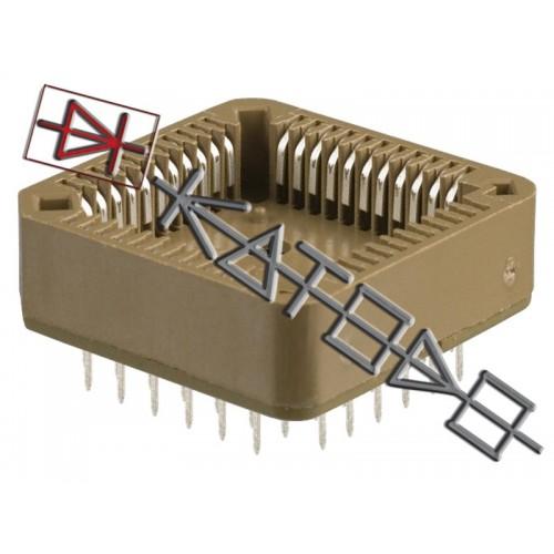 ZOCCOLO PLCC-52 4x13 passo 1,27mm Thrue Hole