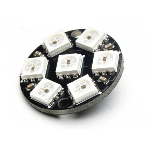 7 led WS2812 5050 RGB - diameter module 23 mm