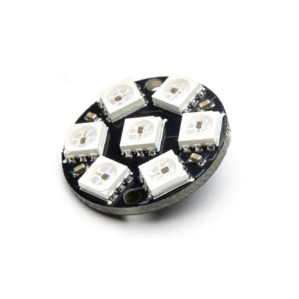 7 led WS2812 5050 RGB module 23 mm diameter