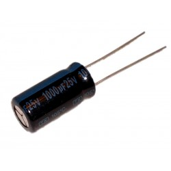 Aluminium Electrolytic Capacitor 1000µF 1000uF 25V P5,08 Ø 10 H 20 mm 105°C LOW-ESR