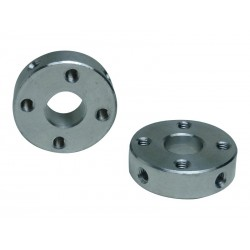 Aluminum Hub with Bore for 8mm shaft - 22mm out diameter - 16mm hole distance - M3 screw hole - NO SCREW ( MOZZO M3 D8 )