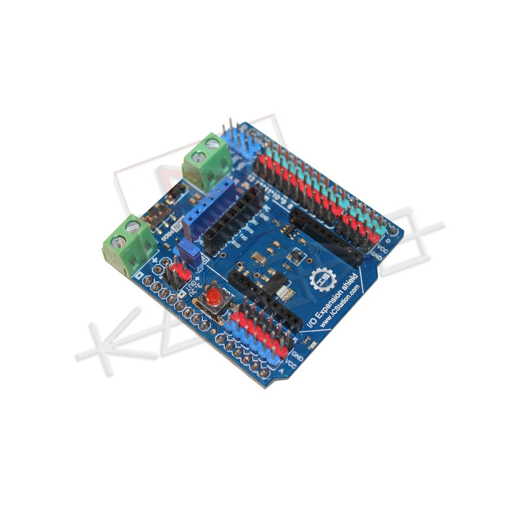 Arduino Xbee I/O Expansion shield with 3v3/5V selection