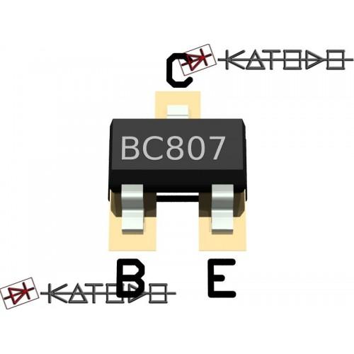 ( 100 pc) BC807-40 PNP 0,5A 45V SOT23