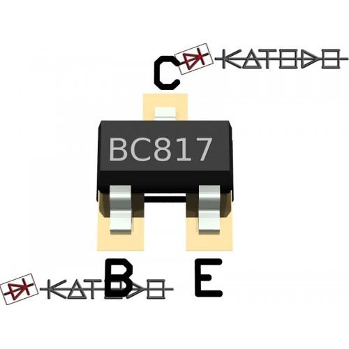 ( 100 pc) BC817-40 NPN 0,5A 45V SOT23