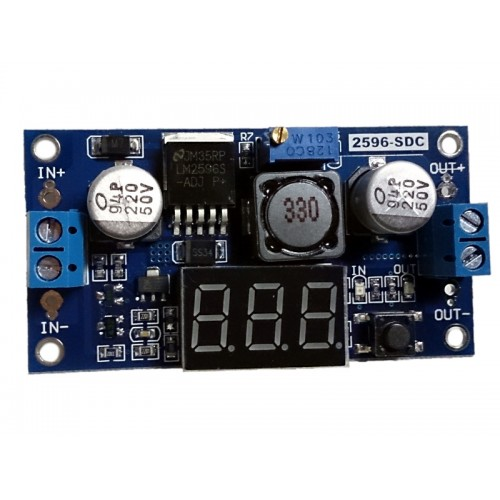 DC-DC Buck Step Down LM2596 with Voltmeter