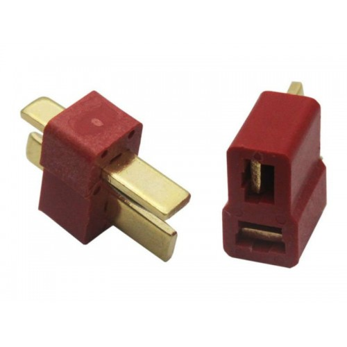 Deans Connectors Male + Female ( 1 Pair) RED LIPO TM01 T-PLUG