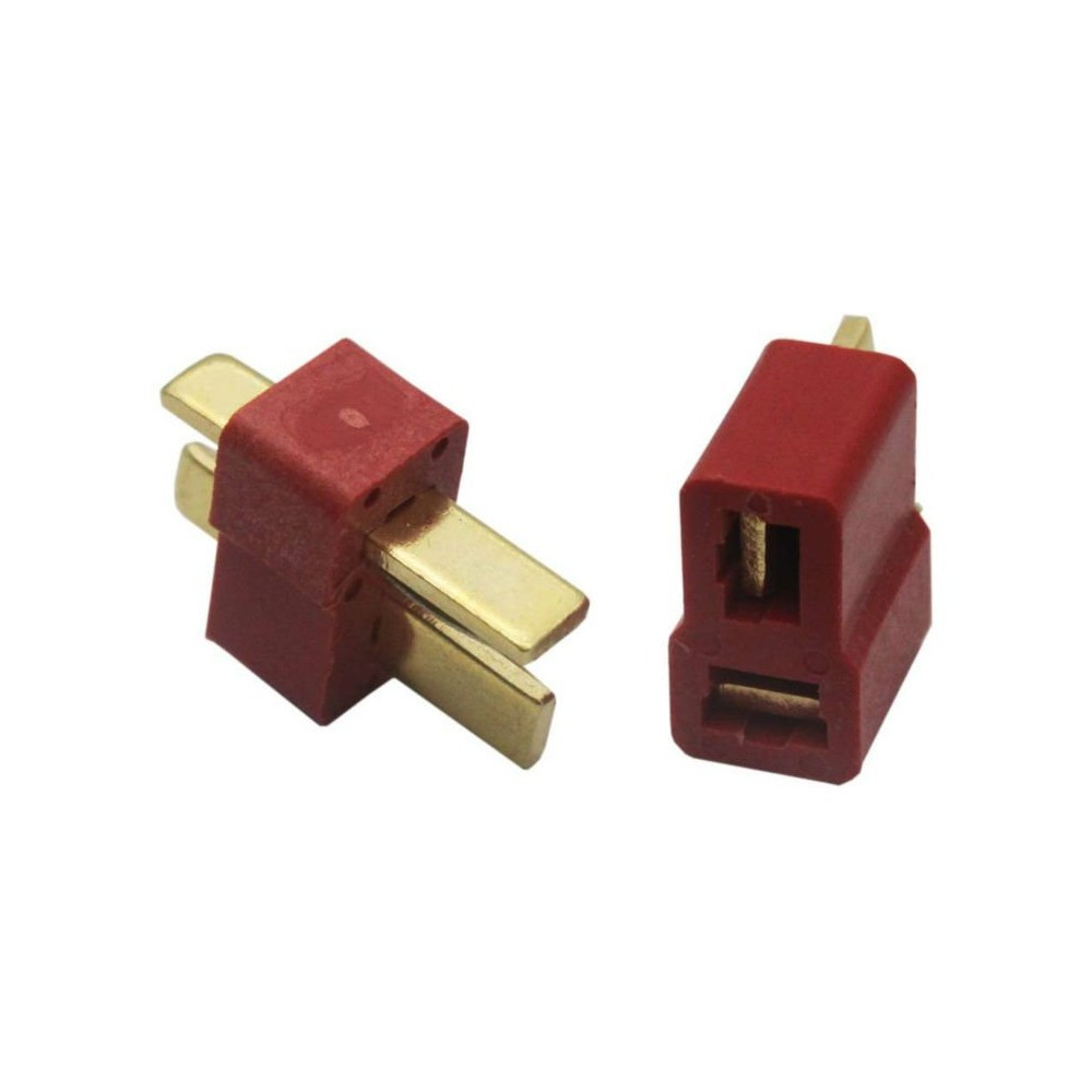 Deans Connectors Male + Female ( 1 Pair) RED LIPO TM01 T-PLUG