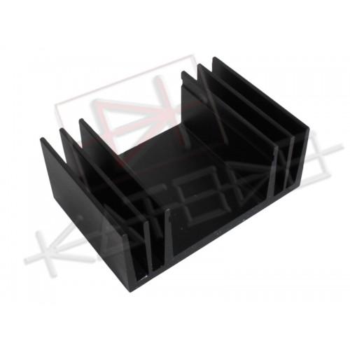 Black anodized aluminum Heatsink S17/40mm M10 Rth 3.5°C/W 60x50x24 mm ( HxLxP)