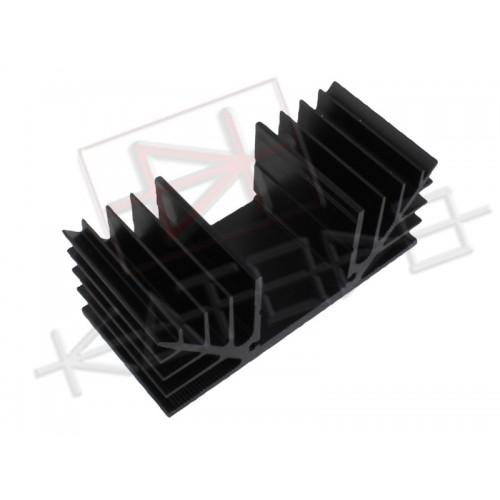 Black anodized aluminum Heatsink S41/40mm M26 Rth 2.3°C/W 88x35x40 mm (HxLxP)