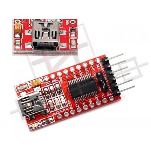 FT232RL USB to TTL adapter module 3,3V 5V - Modulo convertitore seriale per Arduino