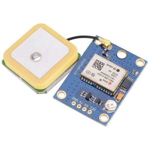 GPS UBLOX NEO-6M ( Neo-6M-0-001 V2 ) Module - Ceramic antenna - Arduino Compatible TTL UART