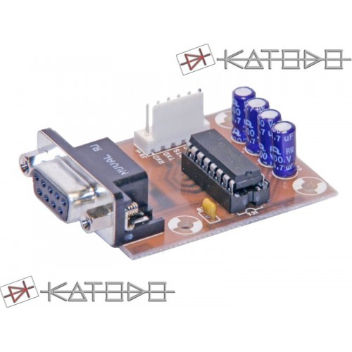 KIT ADATTATORE RS232-TTL con connettore D-SUB DB9 - 3V VERSION - KIT COMPONENTI