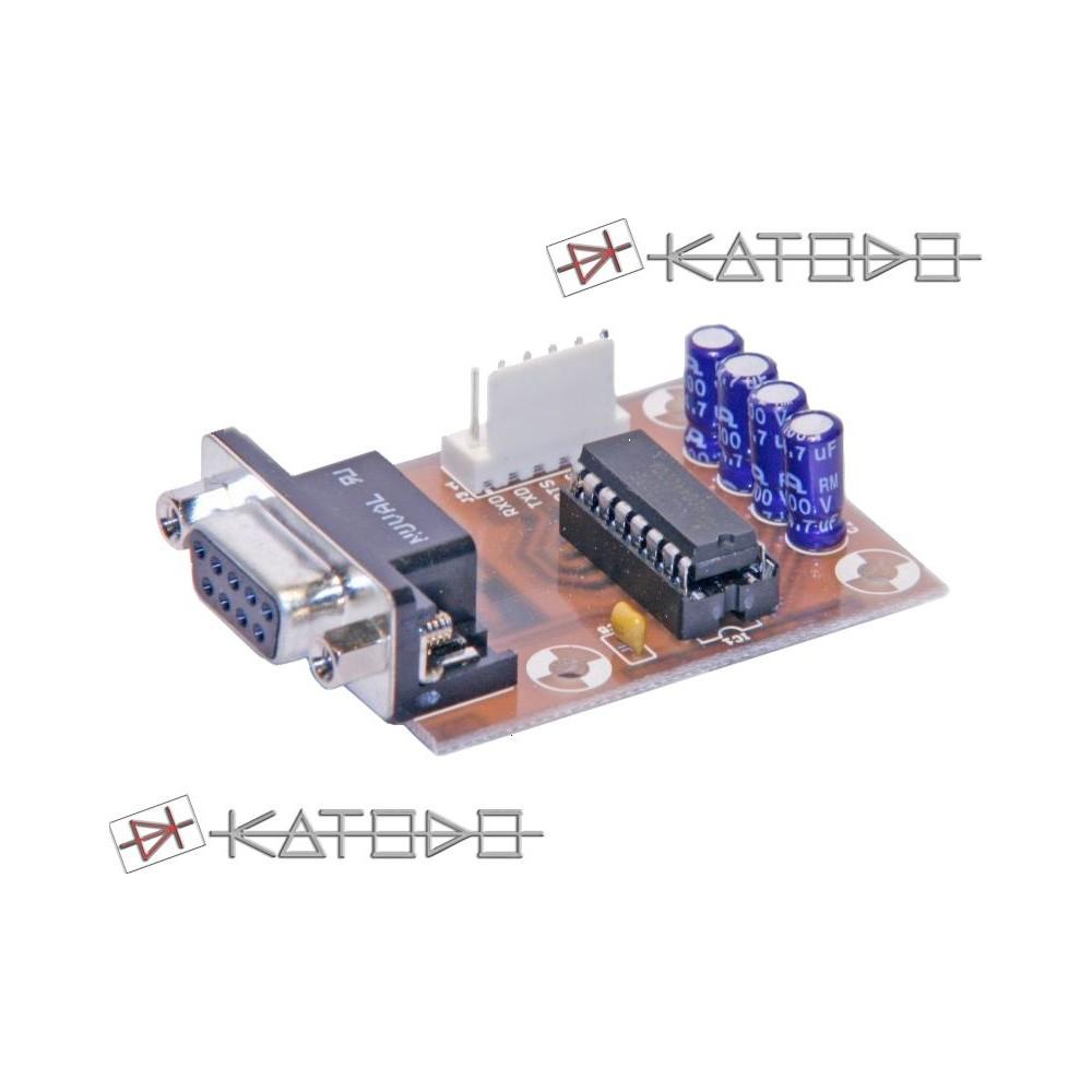KIT ADATTATORE RS232-TTL con connettore D-SUB DB9 - 3V VERSION - KIT COMPONENTI