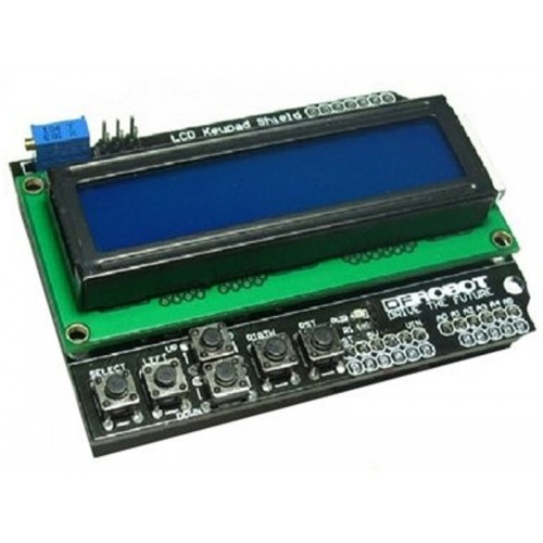 LCD 1602 Keypad Shield For Arduino Due Duemilanove UNO R3 Mega2560 R3