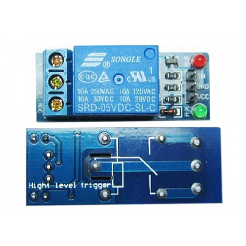Relay Module with Optoisolated input - 1 Channel 10A - 5V Supply - Low Level Trigger - Arduino PIC AVR