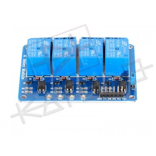 Modulo Scheda Relè 5V 4 Canali 10A - Relay module - Arduino PIC AVR