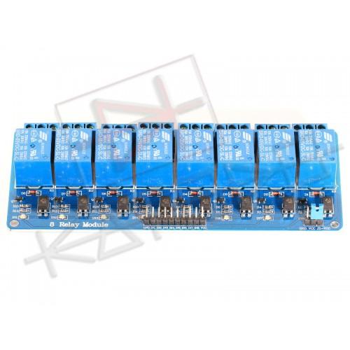 Modulo Scheda Relè 5V 8 Canali 10A - Relay module - Arduino PIC AVR