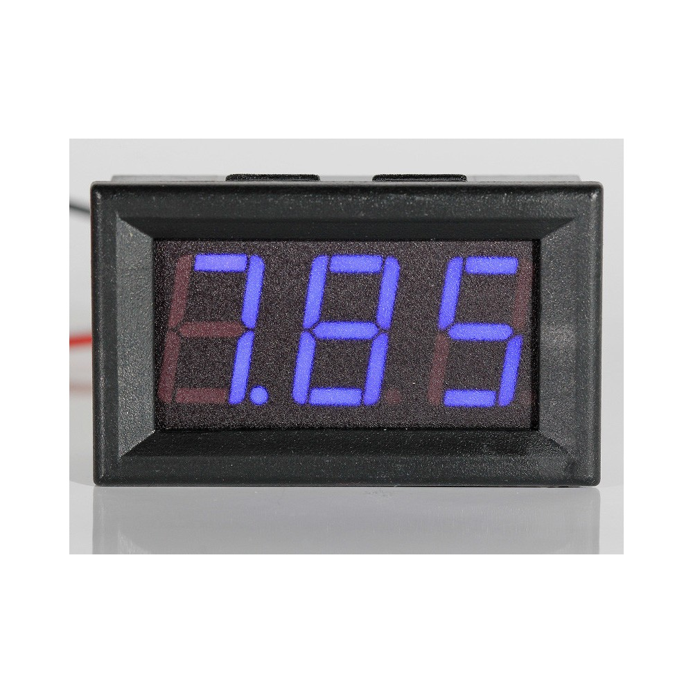 """Panel Meter Voltmeter 0,56"""" (14,2mm) LED 0-32V 2 or 3 wire input - BLUE"""
