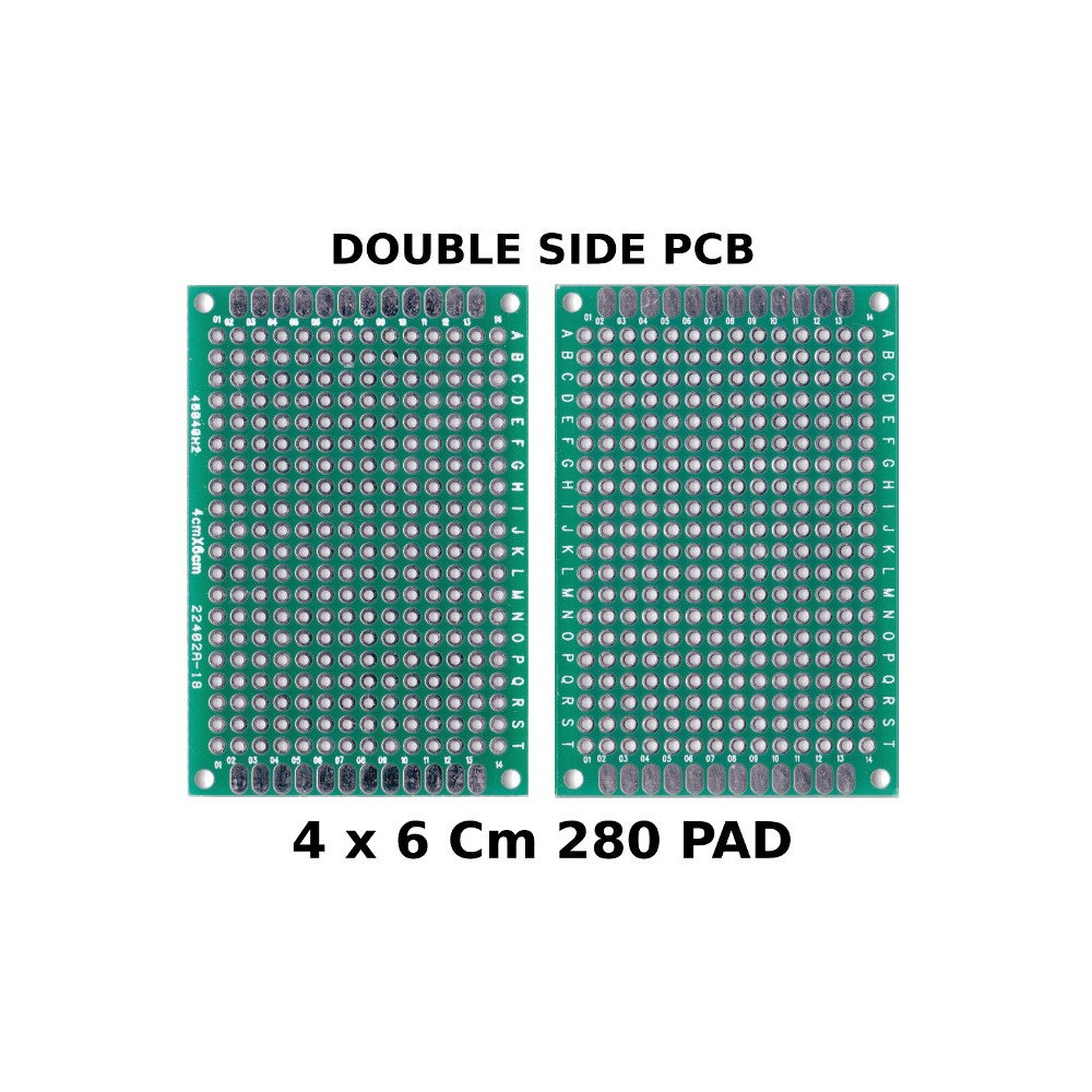 PCB PROTOBOARD DUBLE SIDE 4x6Cm