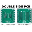 PCB TSSOP14 0,65mm and SO-14 1,27mm to DIL ADAPTER
