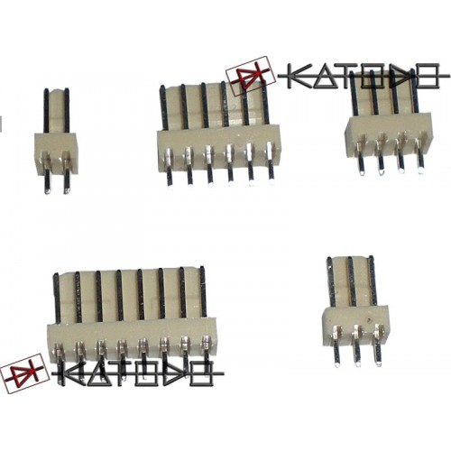 "( 20 pc ) CONN. MASCHIO 3 POLI p2.54 J2541403-R EX2541WV-03P - 0,1"" pitch male header 1x03 pole"