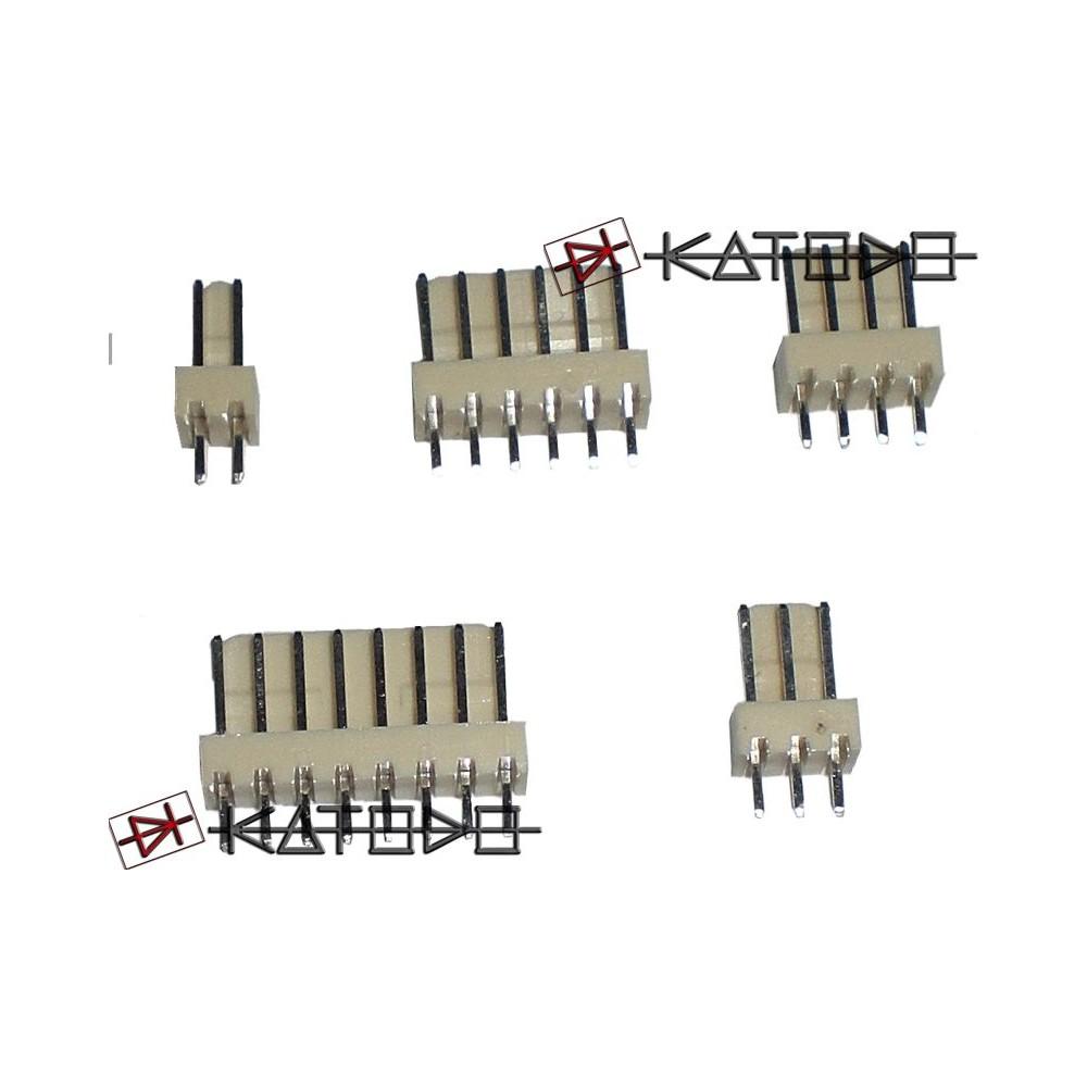 "( 20 pc ) CONN. MASCHIO 6 POLI p2.54 J2541406-R EX2541WV-06P - 0,1"" pitch male header 1x06 pole"