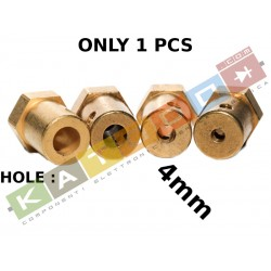 1pcs HUB 12mm HEX, 4mm internal diameter, 18mm length, with screw