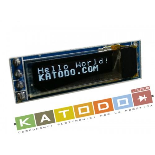 White OLED 0.69 inch 96x16 IIC I2C 3V 5,5V SSD1306 LCD Module for Arduino