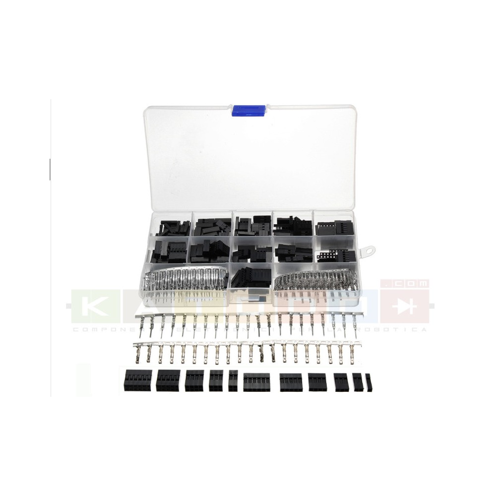Excellway® TC10 620pz Wire Jumper Pin Header Connector Housing Kit For Dupont and Crimp Pins Connectors