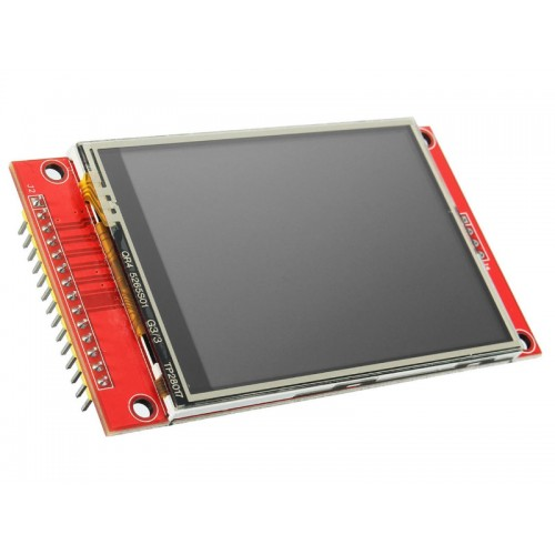 2.8 inch 240×320 18bit TFT SPI ILI9341 - With Resistive Touch Screen LCD Arduino Shield