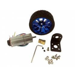 JGA25-370 6V 210RPM Motor DC KIT with Encoder, Mounting Bracket and 65mm wheel