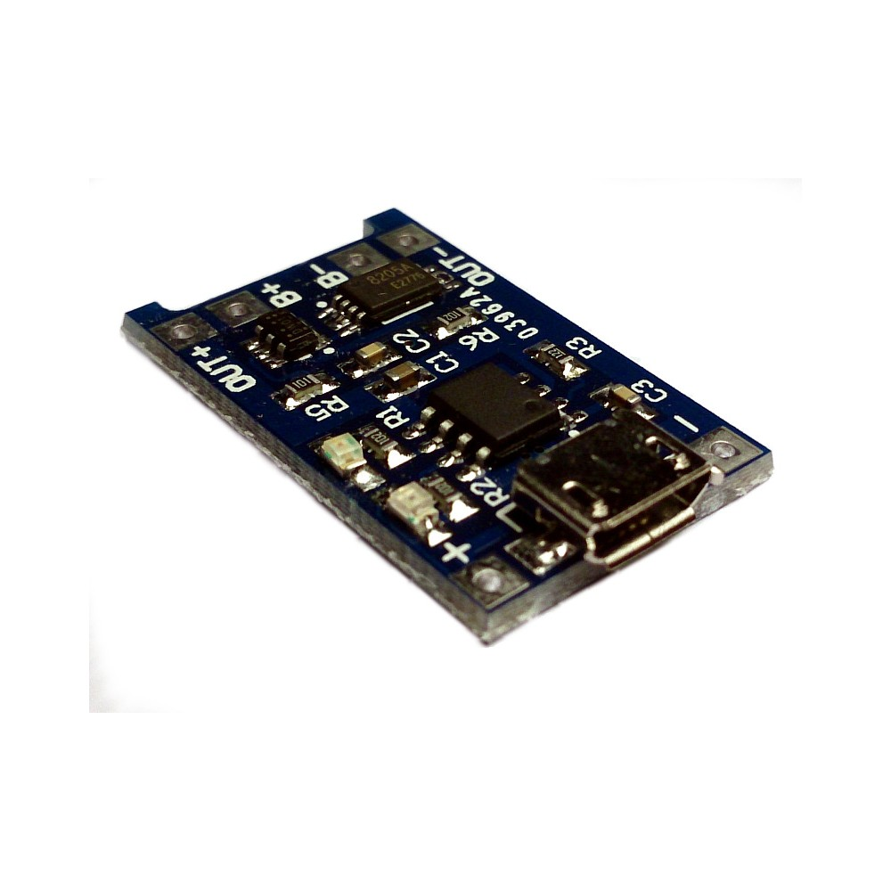 5V Micro USB 1A Lithium Battery Charging + Protection Circuit