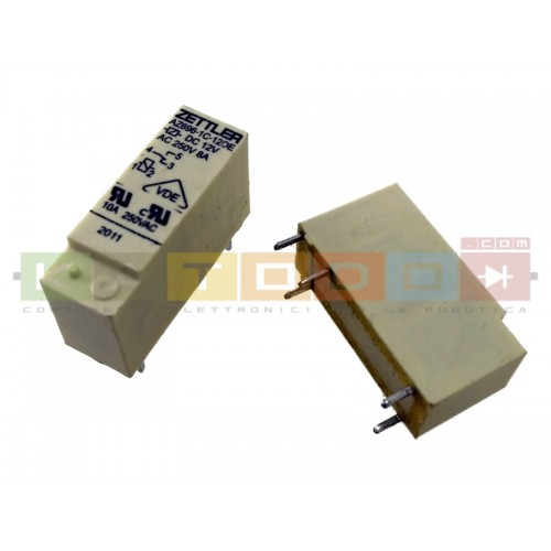AZ696-1C-12DE - AZ696 Series 10 A SPDT 12 VDC PCB Mount Sealed Subminiature Power Relay