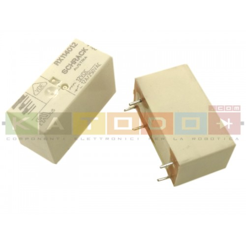 RX114012 - SCHRACK Power PCB Relay RX1 - SPDT 12A 250Vac - 12V Coil