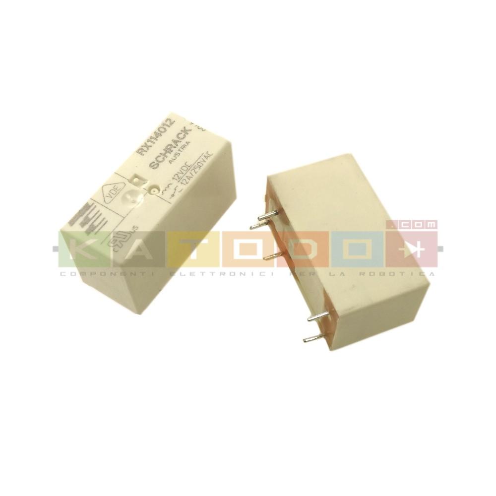 RX114012 - SCHRACK Power PCB Relay RX1 - SPDT 12A 250Vac - 12V Coil